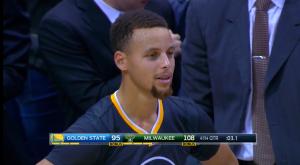 Det var inte Currys fel att sviten sprack mot Bucks. Han hade en bra match med 28 poäng, 7 rb och 5 ass och 10 satta av 21 skott..