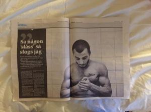 Faksimil ur Sydsvenska Dagbladet 10/1-2016